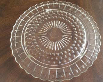 Federal Glass Footed Cake Plate