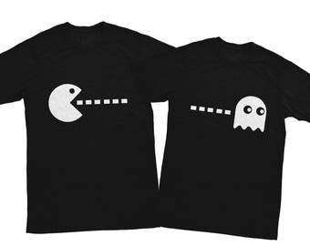 Pacman couple shirts, Husband and wife shirts, husband and wife shirts, Couple shirts, Couple matching shirts, couple outfit game shirts