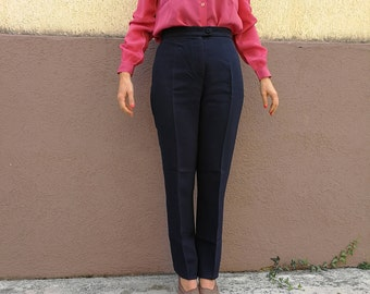Navy blue Moschino Trousers