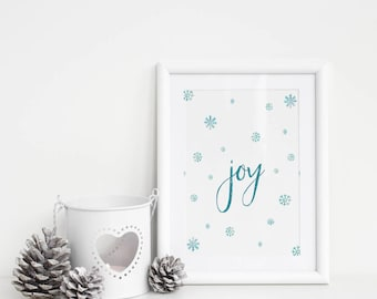 Christmas Printable - Christmas Decorations - Joy Sign - Christmas Decor - Christmas Sign - Christmas Wall Art - Christmas Gift Under 10