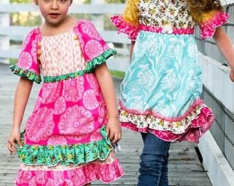 Pink Fig Patterns Vintage Jane Peasant Top and Dress