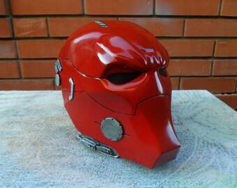 Red Hood helmet (DC, Jason Todd, replica 1:1, cosplay, craft, workshop, handmade)