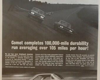 1963 Mercury Comet Vintage Magazine Advert