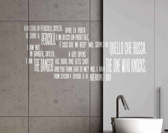 Breaking Bad - Wall stickers, Breaking Bad sticker, Breaking Bad quotes, Breaking Bad phrases, Breaking Bad wall art, wall decor, wall quote