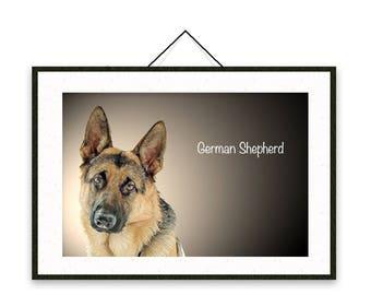 German Shepherd - Dog breed poster, wall sticker, nursery decor, dog print, nursery print, shabby print   Tropparoba - 100% made in Italy