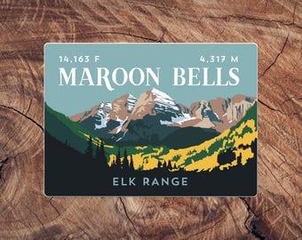 Maroon Bells Colorado 14er Sticker
