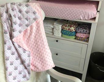 Baby Blanket | Bassinet Blanket | Minky Baby Blanket | Pram Blanket | Newborn Blanket | TTP001