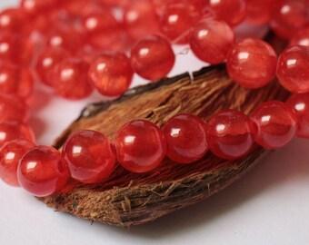 Red Riding Hood Jade Beads