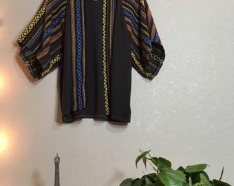 Yarn dye kimono top