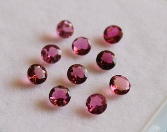 2.5 mm AAA Pink Tourmaline Round  Faceted - Top Grade Gemstone AAA Quality