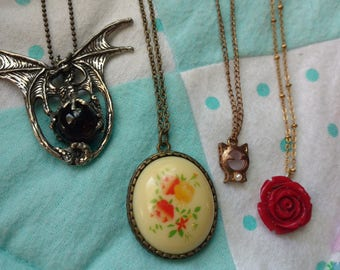 Set of Four Fashionable Necklaces