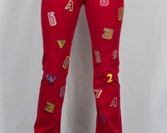 90's red alphabet pants