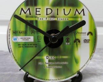 Medium DVD Clock Upcycled TV Show #1