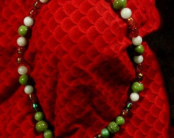 Glass Beads, Dragon Necklace