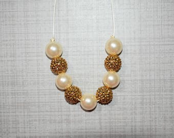 RTS ivory and gold Necklace