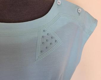 25% July sale / 1980s tunic dress in mint green / Laurie Denton / sportswear / tennis