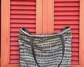 Vegan leather bag, Vegan tote bag, Large everyday casual tote, Black shoulder bag, Silver handbag, Everyday bag, Grey handbag, Grey tote bag