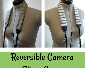 Rose's Reversible Camera Strap Cover (Style: Tee Off)
