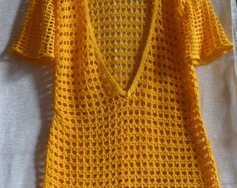 Cotton hand crocheted women's lace tunic