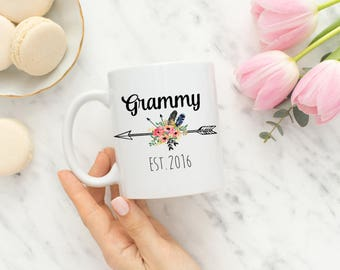 Grammy Mug / Gift for Grammy / Grammy to be Mug /  Mug /  Mugs / Custom Mug  / Gender Reveal Ideas / Pregnancy Reveal Ideas /  MGM-02