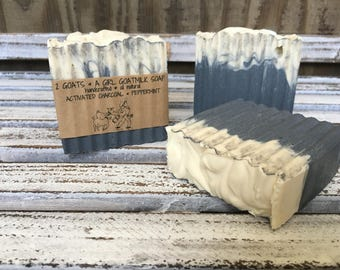 Goat Milk Soap Pore Cleansing with Activated Charcoal & Peppermint