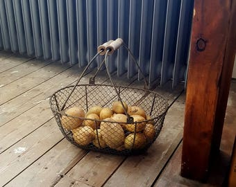 French Vintage Harvesting Basket