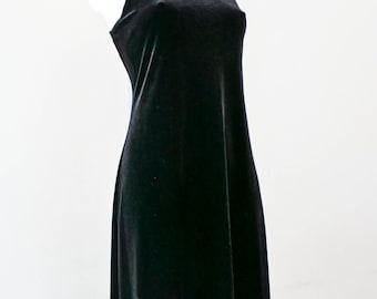 Velvet black evening dress