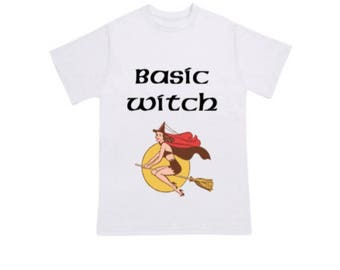 Basic Witch Halloween T-Shirt, Halloween T-Shirt, Funny Halloween Shirt, Halloween Tee, Women's Halloween Shirt, Adult Halloween Costume