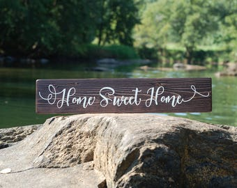 Home Sweet Home sign, Couples Gift, Wedding Gift, Housewarming Gift, Birthday Gift, Gift for her, Shower Gift, Rustic Home decor