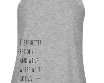 Dogs and Wine Racerback Tank