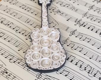 Guitar Classic White - Original art piece