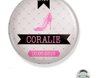 Bachelorette party customizable 38MM badge / heel