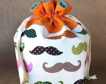 Mustache  Project Bag
