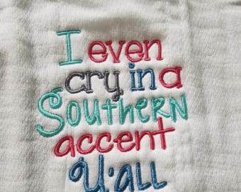 Southern Accent Burp Cloth