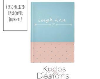 Personalized Journal Arrows, Custom, Writing Journal, Hardcover, Journal, Notebook, Blank Journal, Custom Name