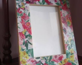Beautiful floral frame - 6x4 image size