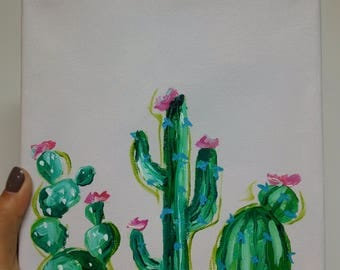 Cactus Friends Painting