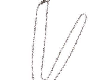 2 Rolo 14 Inch Silver Chain, Finished Necklace, Chain Necklace, Silver Chain, Choker, Wholesale, Adjustable Necklace, On Sale