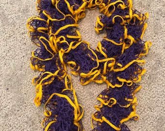Purple and Gold. Perfect LSU accessory or any school colors for a fun ruffely timer.
