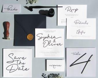 Modern Calligraphy Wedding Suite 'Moon River'