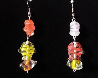 Earrings colorful little fish