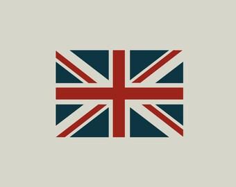 British flag stencil. Union Jack stencil. (ref 139)