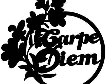"P.V.C 200 Micron ""carpe diem"" stencil reusable 20 x 19 cms (possible other sizes)"