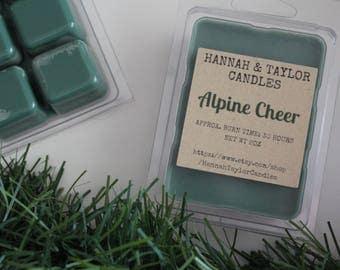 Alpine Cheer Handmade Wax Melt | Balsam Fir Scented Wax Tart | Alpine Cheer Scent | Winter Scented Soy Wax Melt | Christmas Tree Scent