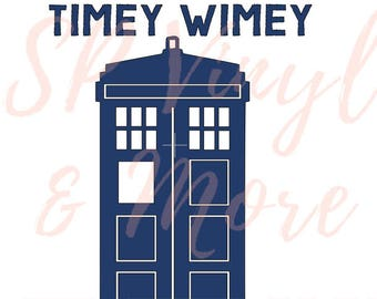 Doctor Who Wibbly Wobbly Timey Wimey