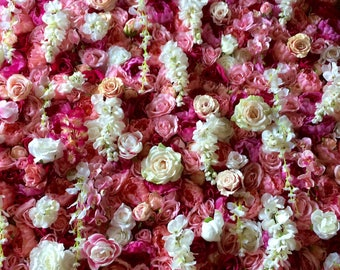 Pink and White Flower Wall/Backdrop- Perfect for every event! Weddings, birthdays, baby showers, parties, bridal showers
