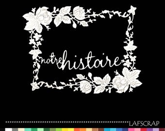 cuts scrapbooking wedding word history baby birth paper embellishment die cut pink wedding flowers