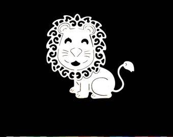 1 cut scrapbooking scrap lion animal baby birth deco die cut Scrapbook embellishment