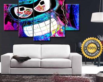 Bender canvas, Bender wall art, Futurama canvas, Futurama art, Futurama wall art, Bender canvas art, Futurama print, Bender home decor
