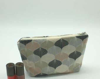 Makeup Kit, Kit toiletry bag in laminated cotton fabric